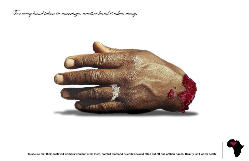 ... essay discusses the film Blood Diamond and the stance it takes on the